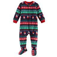 Baby Jammies For Your Families Snowman Fairisle Microfleece Footed Pajamas