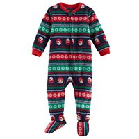 Baby Jammies For Your Families Snowman Fairisle Microfleece Footed Pajamas