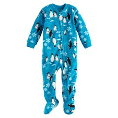 Baby Jammies For Your Families Penguin Microfleece Footed Pajamas