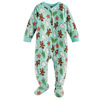 Baby Jammies For Your Families Holiday Cookies Microfleece Footed Pajamas