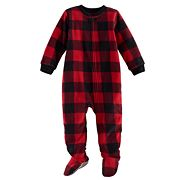 Baby Jammies For Your Families Buffalo Plaid Microfleece Footed Pajamas