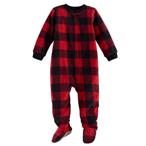 Baby Jammies For Your Families Buffalo Plaid Microfleece Footed Pajamas 4d6909caf
