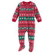 Baby Jammies For Your Families Santa Fairisle Microfleece Footed Pajamas