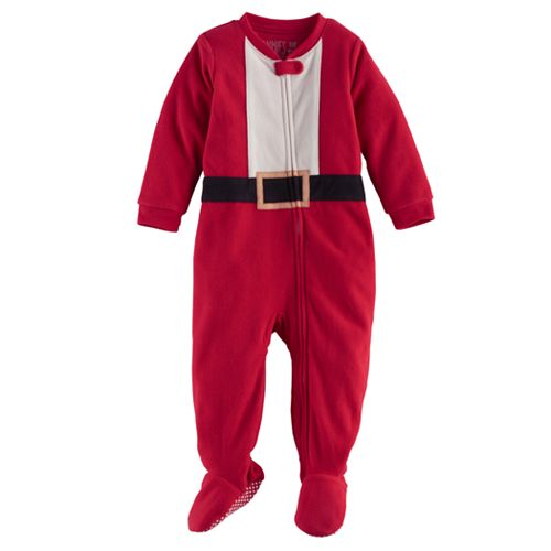 Baby Jammies For Your Families Santa Suit Microfleece Footed Pajamas