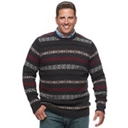 Big & Tall Croft & Barrow® Classic-Fit Windowpane Crewneck Sweater