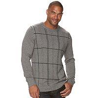 Big & Tall Croft & Barrow® Classic-Fit Windowpane Crewneck Sweater