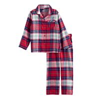 Toddler Boy Jammies For Your Families Plaid Flannel Button-Front Top & Bottoms Pajama Set