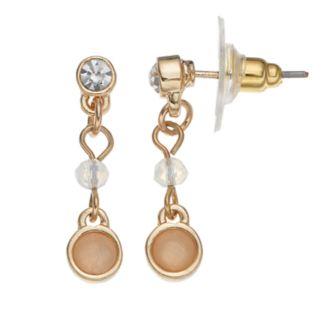 LC Lauren Conrad Faceted Stone Nickel Free Drop Earrings
