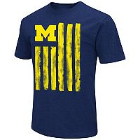 Men's Campus Heritage Michigan Wolverines Flag Tee