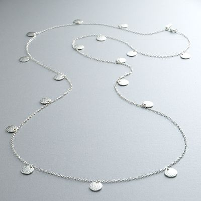 daisy fuentes Silver Tone Long Necklace