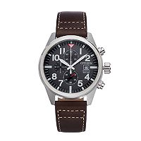 Citizen Men's Leather Chronograph Watch - AN3620-01H