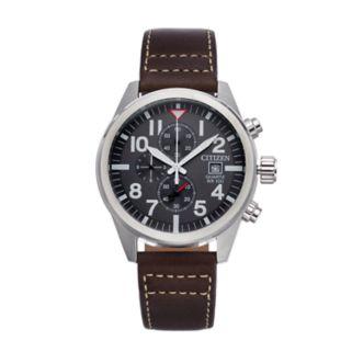 Citizen Men's Leather Chronograph Watch - AN3620-01H