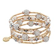 Jennifer Lopez Fireball Beaded Coil Bracelet