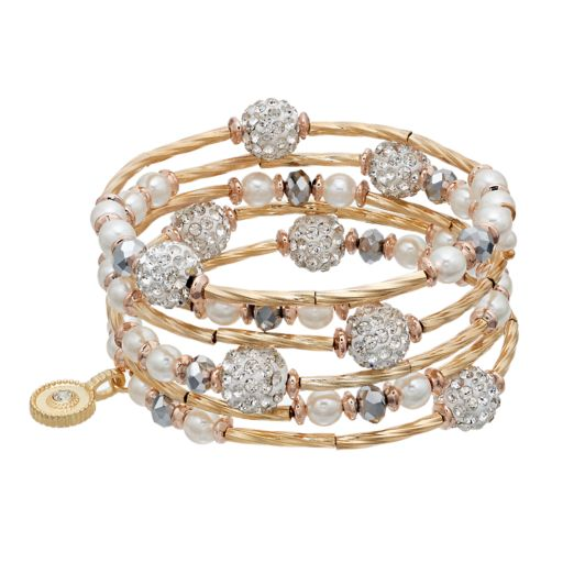 Jennifer Lopez Fireball Beaded Coil Bracelet