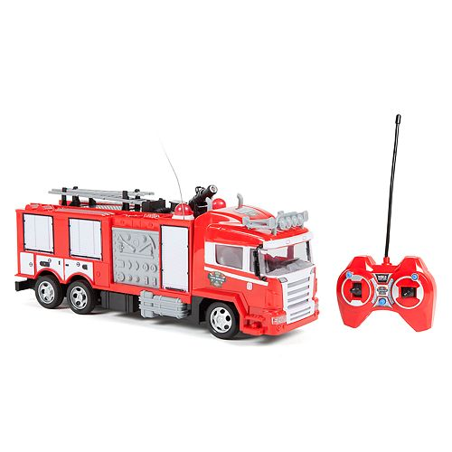 World Tech Toys Remote Control Fire Rescue Truck