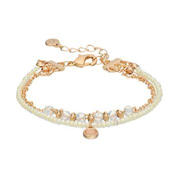 LC Lauren Conrad White Seed Bead Multi Strand Bracelet