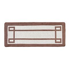 VCNY Greek Key Two-Tone Jacquard Memory Foam Bath Rug Runner