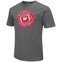 Men's Campus Heritage Wisconsin Badgers Football Tee