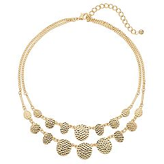 Apt. 9® Textured Disc Double Strand Necklace