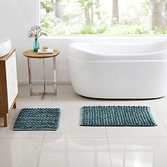 VCNY Reily Two-Tone 2-piece Bath Rug Set