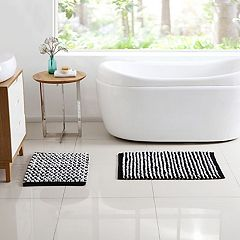 VCNY Reily Two-Tone 2 pc Bath Rug Set