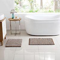VCNY Reily Two-Tone 2-piece Bath Rug Set