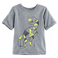 Baby Boy Jumping Beans® Geometric Dinosaur Short Sleeve Softest Graphic Tee