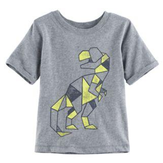 Baby Boy Jumping Beans® Geometric Dinosaur Short Sleeve Softest Graphic Tee