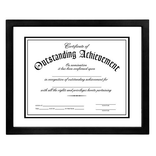 "Malden® 8 1/2"" x 11"" Document Floater Frame - Black"