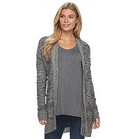 Women's Apt. 9® Geometric Ribbed Cardigan