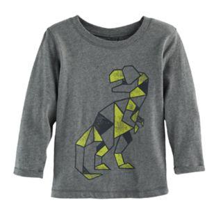 Baby Boy Jumping Beans® Geometric Dinosaur Long Sleeve Softest Graphic Tee