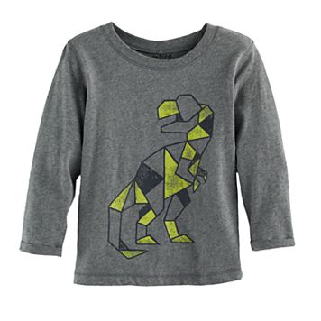 Baby Boy Jumping Beans® Geometric Dinosaur Long Sleeve Softest Graphic Tee