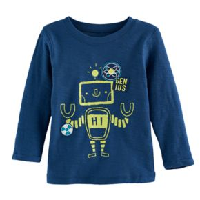 Baby Boy Jumping Beans® Robot Slubbed Long Sleeve Graphic Tee