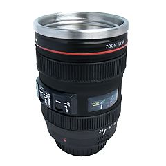 Protocol Focus on Coffee Camera Lens Travel Mug