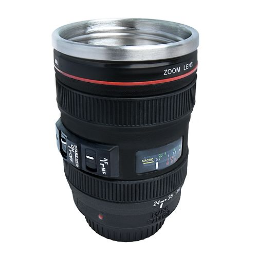 Protocol Focus on Coffee Camera Lens Travel Mug