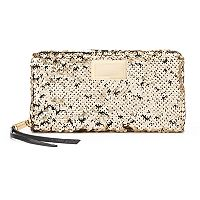 Juicy Couture Sequined Zip-Around Wallet