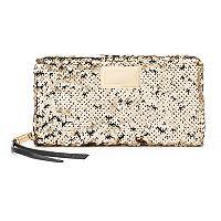Juicy Couture Sequined Zip-Around Wallet