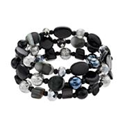 Shell Composite Multistrand Stretch Bracelet