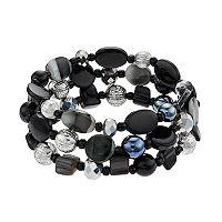 Shell Composite Multistrand Stretch Bracelet