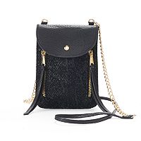 Juicy Couture Double Zipper Lace Phone Crossbody Bag
