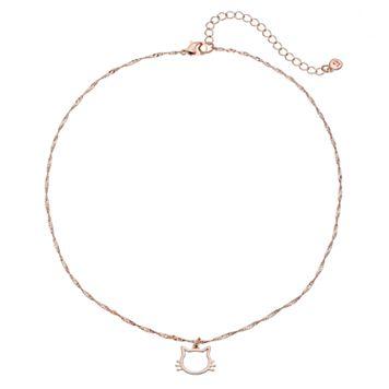 LC Lauren Conrad Cat Face Pendant Necklace