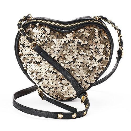 Juicy Couture Romie Sequined Heart Crossbody Bag
