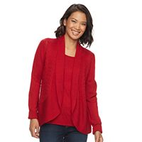 Women's Croft & Barrow® Pointelle Mock-Layer Sweater