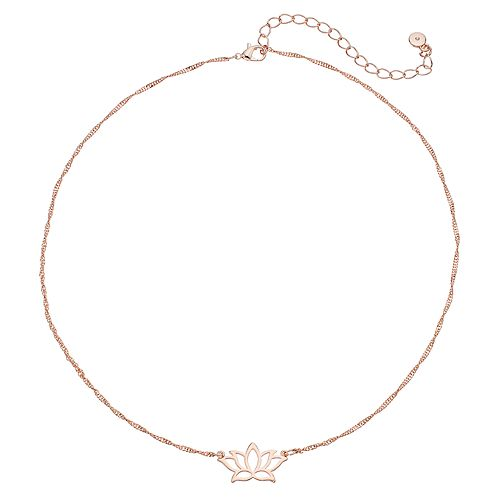 LC Lauren Conrad Lotus Flower Necklace
