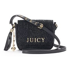 Juicy Couture Lace Mini Flap Crossbody Bag