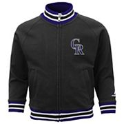 Toddler Boy Majestic Colorado Rockies Track Jacket