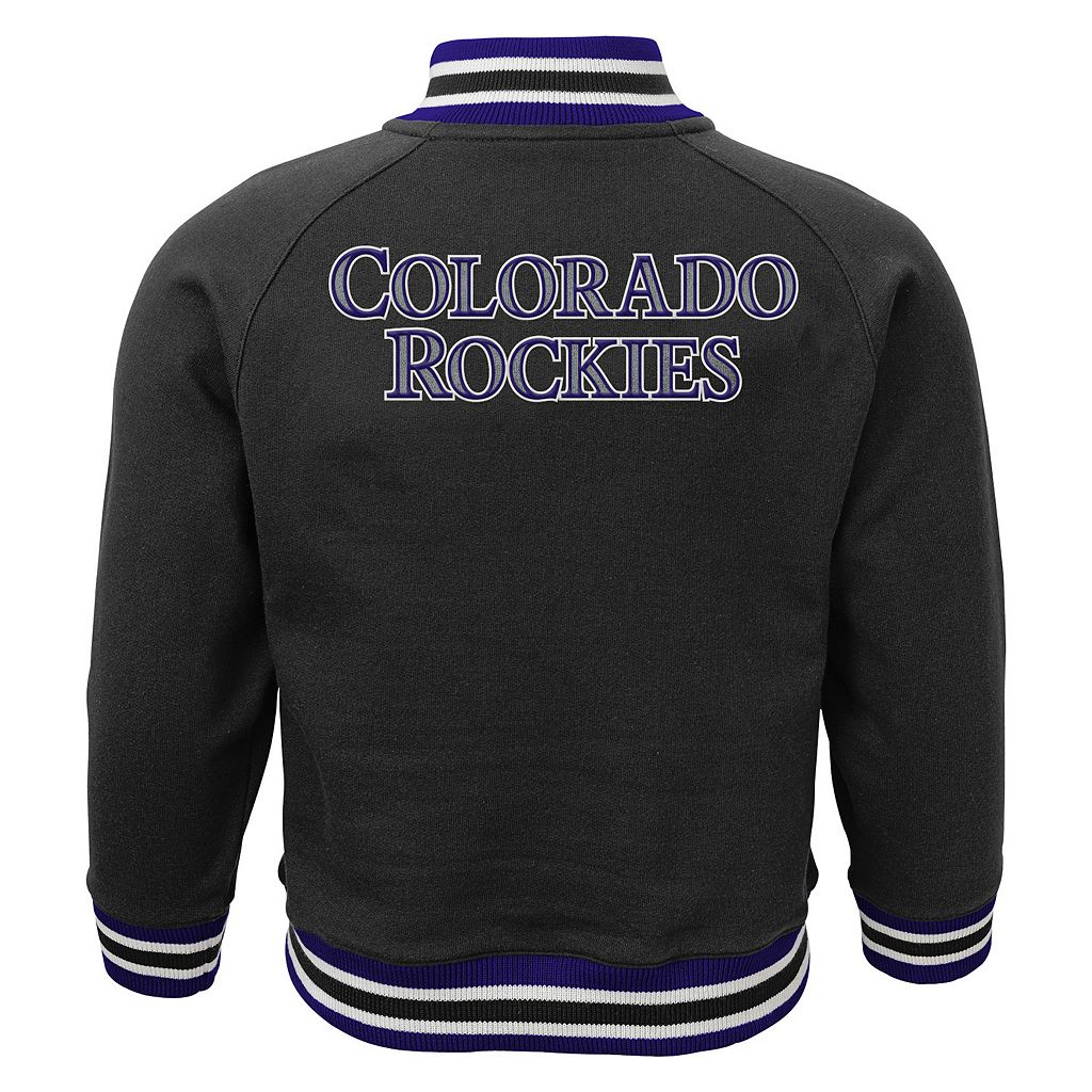 Toddler Boy Majestic Colorado Rockies Track Jacket