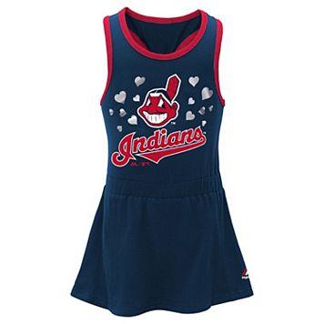 Girls 4-6x Majestic Cleveland Indians Criss-Cross Tank Dress