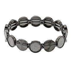 Glittery Circle Link Stretch Bracelet