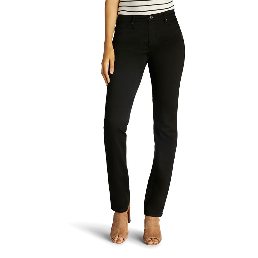 Petite Lee Rebound Slim Fit Straight-Leg Jeans